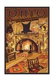 Ohio - Lodge Interior Print by  Lantern Press