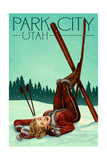 Park City, Utah - Ski Pinup Art by  Lantern Press