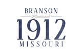 Branson, Missouri - Established Date (Blue) Prints by  Lantern Press