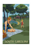 South Carolina - Lake and Picnic Scene Posters by  Lantern Press