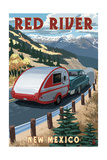 Red River, New Mexico - Fall Retro Camper Posters by  Lantern Press