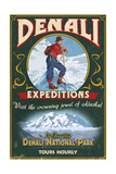 Denali National Park, Alaska - Denali Climbers Vintage Sign Posters by  Lantern Press
