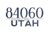 Park City, Utah - 84060 Zip Code (Blue) Print by  Lantern Press