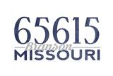 Branson, Missouri - 65615 Zip Code (Blue) Posters by  Lantern Press