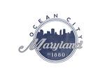 Ocean City, Maryland - Skyline Seal (Blue) Posters by  Lantern Press