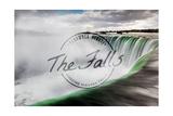 Niagara Falls - Horseshoe Falls Close Up with Mist - Badge Prints by  Lantern Press
