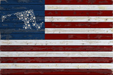 Maryland - Distressed Flag Giclée-Premiumdruck von  Lantern Press