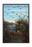 South Carolina - Hunter and Lake Posters by  Lantern Press