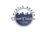 Myrtle Beach, South Carolina - Skyline Seal (Blue) Posters by  Lantern Press