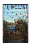 Minnesota - Hunter and Lake Posters by  Lantern Press