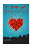 I Love You Spokane, Washington Posters by  Lantern Press