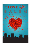 I Love You Salem, Oregon Prints by  Lantern Press