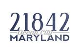 Ocean City, Maryland - 21842 Zip Code (Blue) Posters by  Lantern Press
