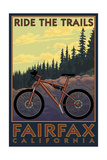 Fairfax, California - Ride the Trails Posters by  Lantern Press