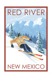 Red River, New Mexico - Downhill Skier Posters by  Lantern Press