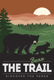Bear the Trail (Bear Family) - Discover the Parks Posters by  Lantern Press