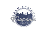 Palm Springs, California - Skyline Seal (Blue) Posters by  Lantern Press