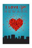 I Love You Newark, New Jersey Prints by  Lantern Press