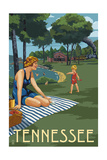 Tennessee - Lake and Picnic Scene Posters by  Lantern Press