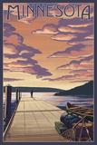 Minnesota - Dock Scene and Lake Prints by  Lantern Press