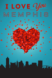 I Love You Memphis, Tennessee Prints by  Lantern Press
