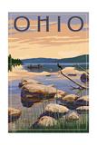 Ohio - Lake Sunrise Scene Prints by  Lantern Press