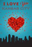 I Love You Kansas City, Kansas Kunstdrucke von  Lantern Press