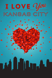 I Love You Kansas City, Kansas Prints by  Lantern Press