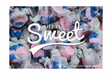 Ocean City, New Jersey - Life is Sweet - Taffy Collage Sentiment Prints by  Lantern Press