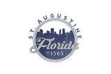 St. Augustine, Florida - Skyline Seal (Blue) Posters by  Lantern Press
