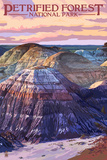 Petrified Forest National Park, Arizona - Chinle Formation Prints by  Lantern Press