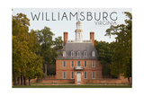 Williamsburg, Virginia - Governors Palace Front View Prints by  Lantern Press