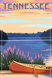 Tennessee - Canoe and Lake Prints by  Lantern Press