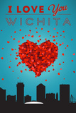 I Love You Wichita, Kansas Poster by  Lantern Press