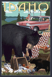 Idaho - Bear and Picnic Scene Prints by  Lantern Press