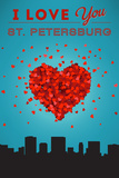 I Love You St. Petersburg, Florida Print by  Lantern Press