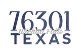 Wichita Falls, Texas - 76301 Zip Code (Blue) Poster by  Lantern Press