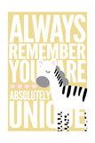 Zebra - Infant Sentiment - Yellow Posters by  Lantern Press
