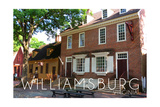 Williamsburg, Virginia - Main Steet View Print by  Lantern Press