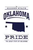 Oklahoma State Pride - Blue on White Posters by  Lantern Press