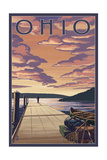 Ohio - Dock Scene and Lake Poster by  Lantern Press