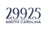 Hilton Head, South Carolina - 29925 Zip Code (Blue) Prints by  Lantern Press