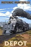 Huntsville, Alabama - Huntsville Depot - Steam Locomotive Kunst von  Lantern Press
