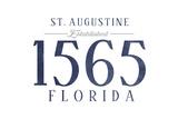 St. Augustine, Florida - Established Date (Blue) Prints by  Lantern Press