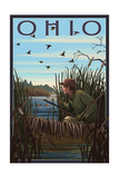 Ohio - Hunter and Lake Prints by  Lantern Press