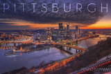 Pittsburgh, Pennsylvania - Winter Sunrise Prints by  Lantern Press
