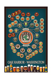 Oak Harbor, Washington - Beers of the World Infographic Prints by  Lantern Press