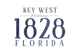 Key West, Florida - Established Date (Blue) Posters by  Lantern Press