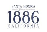 Santa Monica, California - Established Date (Blue) Prints by  Lantern Press