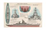 USS Wisconsin - Technical Print by  Lantern Press